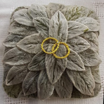 Composition de feuilles de lamb'set fil de métal doré